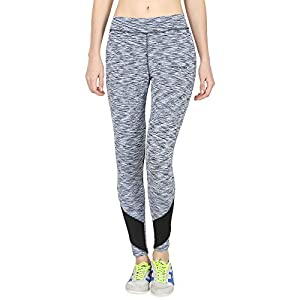 4cdc00ad0d8 ONESPORT Light Blue   Black Printed Slim Fit Ankle Length Sports Tights for  Women(ONSP38SD)