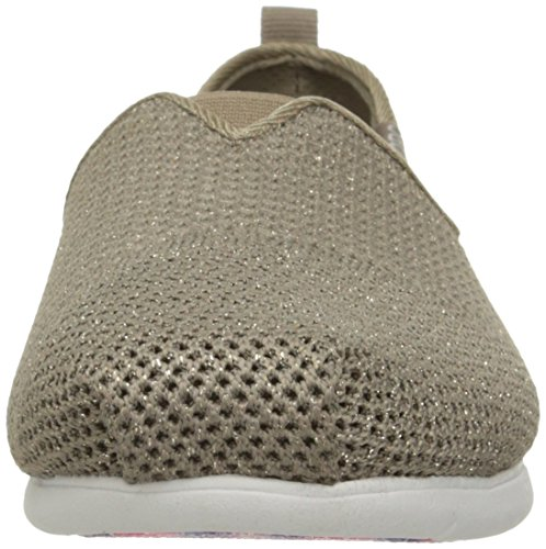 Bobs by Skechers Plush Lite Toile Espadrille Taupe Sparkle
