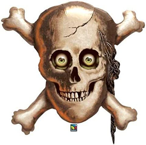 Skull And Cross Bones Foil Balloon Pirates Helium by Partypackage Ltd