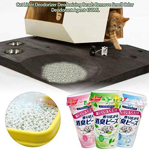 Goodtimera Katzenstreu-Deodorant, Katzenstreu-Deodorant, Katzenstreu-Geruchseliminator, Desodorierende Perlen Entfernen Sie Geruchsgeruch Deodorant Agent 450ML (Home-duft-aroma-perlen)