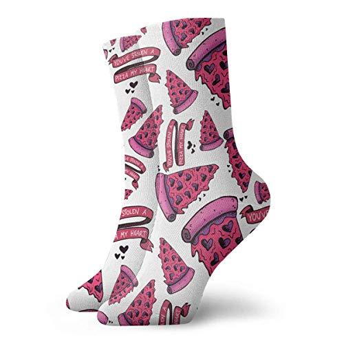 Cute Pizza Stolen My Heart Fashion Unisex Ankle Socks Athletic Stockings 30cm Long Sock ()