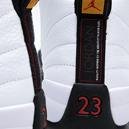 "Nike Air Jordan 12 Retro ""Taxi"" de basket-ball en cuir Chaussures white/black-taxi-varsity red"
