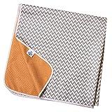 Non Slip Splash Mat by TotsAhoy!® Large Under Highchair Baby Weaning Floor Protector (Grey Chevron)