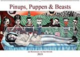 Pin-ups, Puppen & kleine Monster (Wandkalender 2019 DIN A2 quer): Burlesque Pinup Zeichnungen mit flottem Strich - Pinups, Puppen & Beasts (Monatskalender, 14 Seiten ) (CALVENDO Menschen)