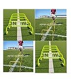 """CW 6x PVC hurdles -12pollici """"ultra resistenti, multiuso, allenamento di velocità, agilità, e Plyometric ostacoli (set da 6) Supporto per tutti gli sport calcio, basket, pallavolo, lunghe, ostacoli"""