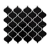 Fliesen Mosaik Mosaikfliese Keramik Florentiner schwarz glänzend 6mm Neu #517