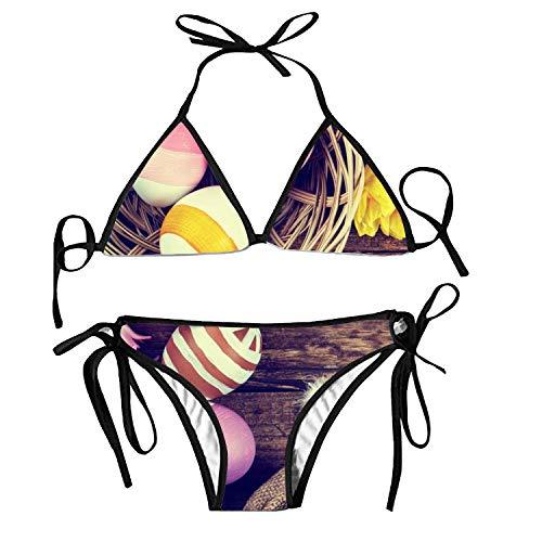 ryudryu Women's Tie Side Bottom Triangle Bikini Bathing Suits