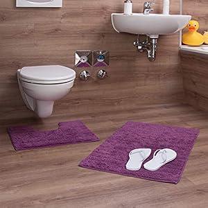 Badezimmerteppich Set Lila Deine Wohnideen De