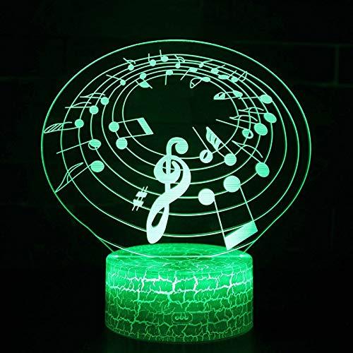 GUANGYING Nachtlichter Musikalische Lampe des Stab-Thema-3d führte Farbänderungs-Noten-Stimmungs-Lampen-Weihnachtsgeschenk des Nachtlicht-7