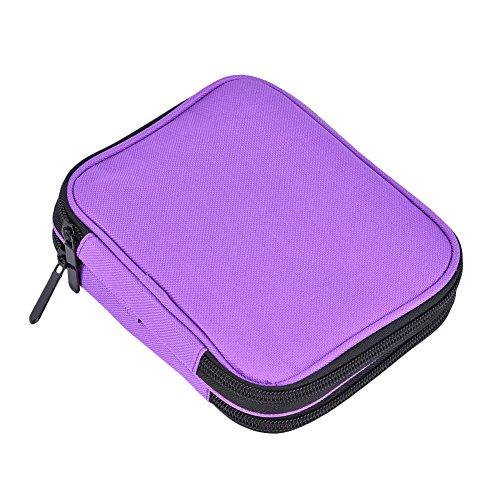 iBaste Garnaufbewahrung Box Handarbeitstasche für Stricken, Häkeln Transport Sticktasche Groß Violet