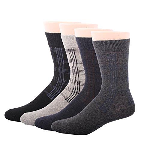 RioRiva Herren Business Socken Berufssocken Arbeitssocken Baumwolle Für Männer (BSK11 4paar)