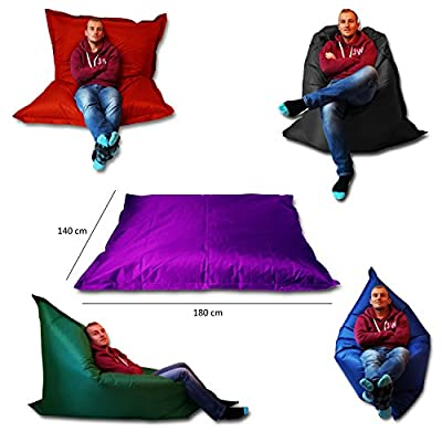 Extra Large Giant Beanbag Teal Blue - Indoor & Outdoor Bean Bag - MASSIVE 180x140cm - great for Garden