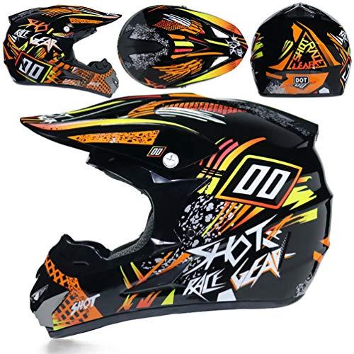 Ragazzi adulti bicicletta casco del motociclo off road leggero anti collisione pieno viso moto Caschi all'aperto Mountain Bike Motocross tappi di sicurezza per tutte le stagioni