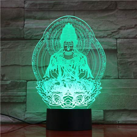 Buddha 3d Lampe Usb Nachtlicht Led Rgbw Beleuchtung Luminaria Tabelle Kinder Weihnachtsgeschenke Home Dekorative (Buddha Pfeife)