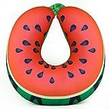HENGSONG Creative U Forme de Voyage Oreiller Tête de Cou Support de Style Fruit Coussin en Peluche Douce