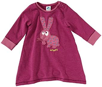 Sanetta Baby - Mädchen Babybekleidung/ Kleid, gestreift 122948, Gr. 92, Pink (6206)