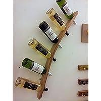 Wand Weinregal, Holz Eiche. Individuell handgefertigt, mit 100% recycelten Eichen Weinfässer aus der Corbières Weinregion Südfrankreich. Fassdaube linke Seite - Multi-kaufen möglich