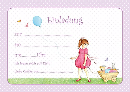 Erhältlich im 1er 4er 8er Set: Niedliche Kinder Geburtstags Einladungskarte