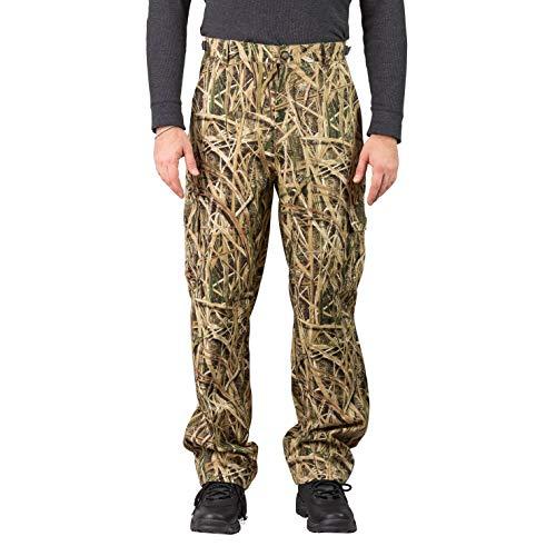 TrailCrest Cargohose für Herren, Camouflage, 6 Taschen, Mooseiche, Herren, Shadow Grass Blades, Medium -