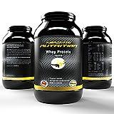 Whey Protein – Das Eiweißpulver für alle Fitness und Sportbegeisterte – reines Molkweiweiß – Qualität made in Germany (Vanille, 2270g) - 2
