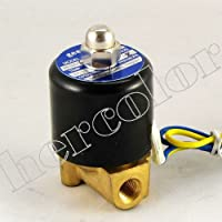 eerel - Elettrovalvola per aria, acqua, gas, olio, 12 V, 0,3 (Boxed Tubo)