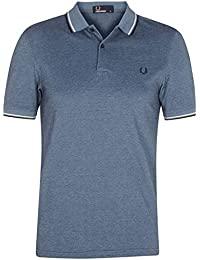 Fred Perry Twin Tipped Fred Perry Shirt Glacier Carbon Oxford, Polo