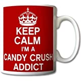 Keep Calm I'm A Candy Crush Addict Mug Cup Gift Retro