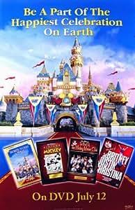 DISNEYLAND 50TH ANNIVERSARY SINGLE-SIDED VIDEO COMMEMORATIVE DVD RELEASE 26X40 ORIGINAL POSTER
