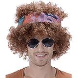 Peluca afro hippie hombre 130 g - Única