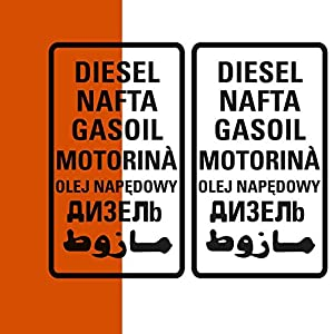 Diesel Aufkleber 2er Set, große oder kleine Version, Sticker für Camper Bus Offroad 4×4 Wohnmobil Boot oder Geländewagen