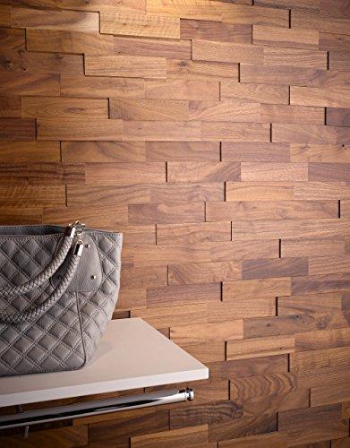 wodewa wandverkleidung holz 3d optik i nussbaum i 1m preisvergleich bei. Black Bedroom Furniture Sets. Home Design Ideas