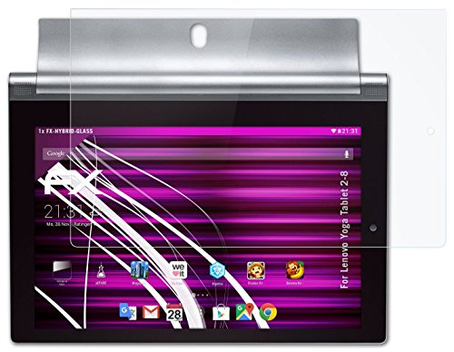 atFoliX Panzerglasfolie Lenovo Yoga Tablet 2-8 Glasfolie - FX-Hybrid-Glass ultradünn und superhart