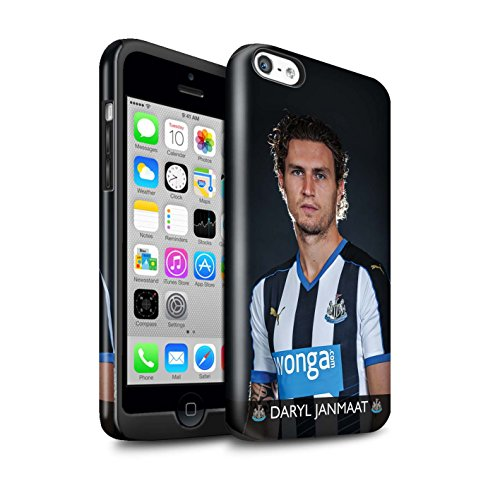 Officiel Newcastle United FC Coque / Brillant Robuste Antichoc Etui pour Apple iPhone 5C / Pack 25pcs Design / NUFC Joueur Football 15/16 Collection Janmaat