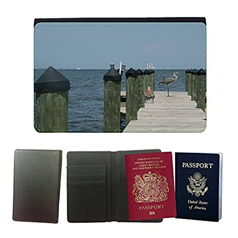 GoGoMobile Hot Style PU Leather Travel Passport Wallet Case Cover // M00118707 Dock Crane Florida (Florida Pier)