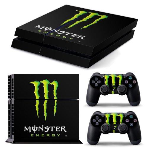 AGSP® MONSTER PS4 Console and DualShock 4 Controller Skin Set - PlayStation 4 Vinyl (Monster Playstation Controller)
