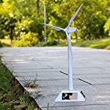 ABS Kunststoff weiß Solar Windmühle Modell Lehre Experiment Deko Windkraft Generation System für Lehrer Experiment Dekoration