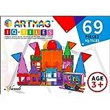ARTMAG IQ TILES ARTMAG IQ-TILES Magnetic Tiles for Kids - 69 Pieces