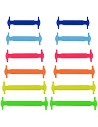 SOUMIT Cordones para Zapatos de Silicona Elástica para Niños (12 Piezas),Sin Corbata Cordones de Zapatos para Niños y Adultos Impermeables Cordones de Zapatos de Atletismo Atlética