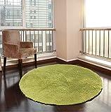 XNNSH 32 Pollici di Lusso Area Rotonda tappeti Super Soft Soggiorno Camera da Letto Tappeto Donna Yoga Mat,Green,L