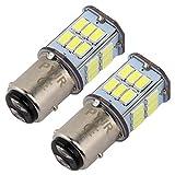 BAY15D 1157 p21/5w led ampoule feu de stop, DC10-30V Lumière blanc, pour Moto, RV, Auto Voiture, feux de jours, etc (Lot de 2)