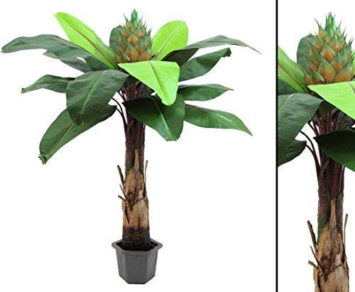 Königsstrelizie Kunstpalme, mit 15 Blätter, Höhe 180cm im Topf – künstliche Palmen Dekopalmen Deko Palmen