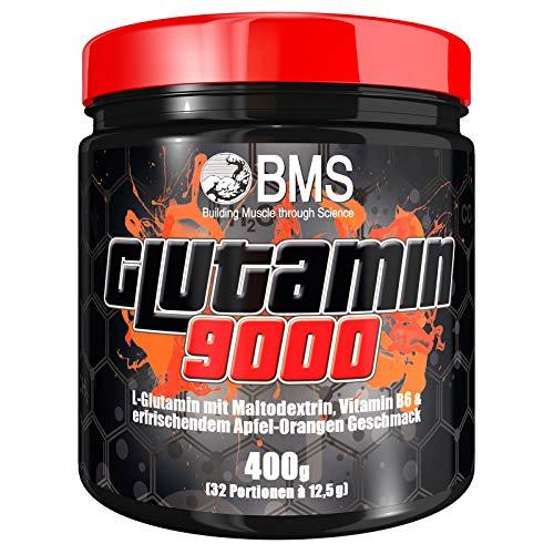 BMS Glutamin 9000 400g Dose Apfel-Orange