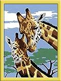 Ravensburger 27977 - Dipingere con i numeri, motivo: giraffe, 13 x 18 cm