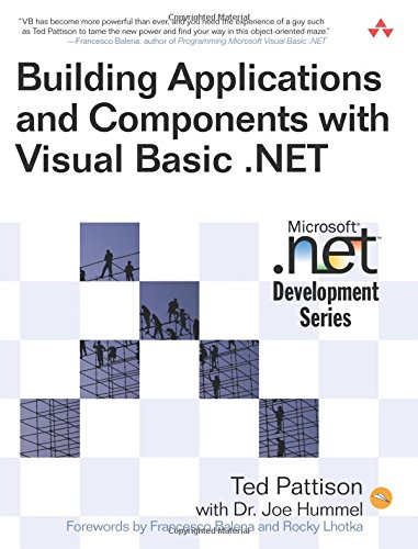 Building Applications and Components with Visual Basic .NET (MICROSOFT NET DEVELOPMENT SERIES)