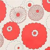 Kobayashi Naturfarbenes Wachstuch mit Roten Blüten von