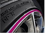 6mm pink Felgenrand Aufkleber 10-24 Zoll Radgröße passend für Motorrad und Auto geeignet
