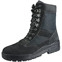 Savage Island Black Suede Army Patrol Combat Boots Tactical Cadet Security Military
