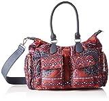 Desigual Damen Bag Arty Atari London Umhängetasche, Rot (Granate), 25.5x15.5x32 cm