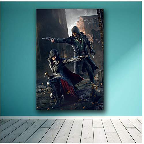 A&D Das Spiel Poster Dekoration Gemälde von The Assassin's Creed auf HD Leinwand Leinwand Gemälde Kunst Poster Wandkunst Leinwand -50x75cm No Frame