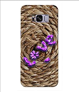Snooky Printed Love Rove Mobile Back Cover of Samsung Galaxy S8 - Brown